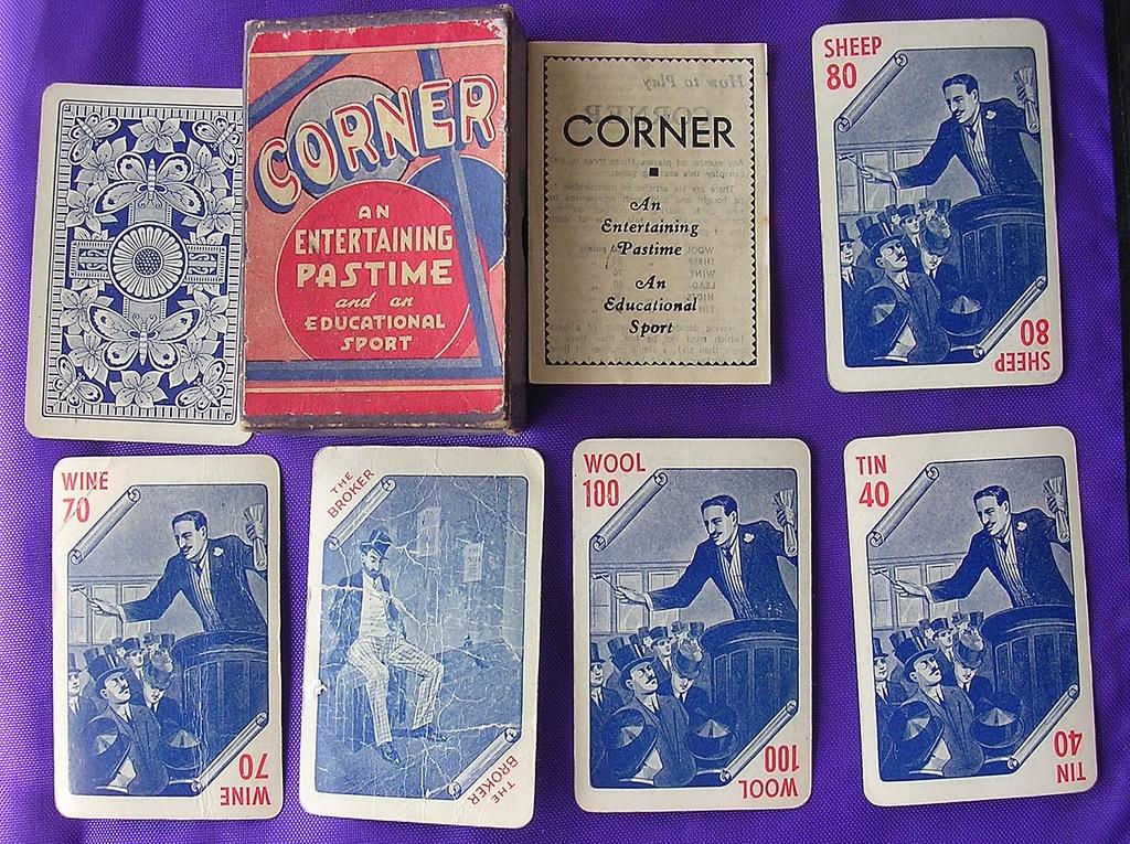 Vintage Victorian Playing Cards Game 'Corner'