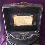 Vintage Remington Brand Portable Typewriter
