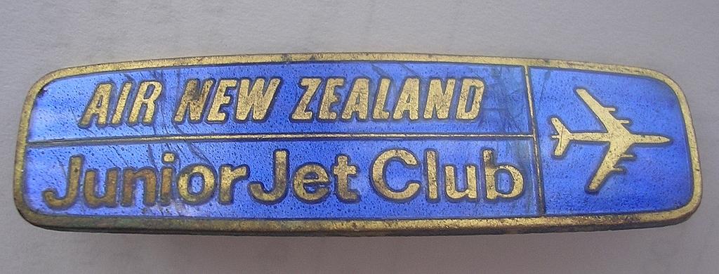 Old AIr New Zealand 'Junior Jet Club'; Badge