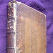 1710 First Edition 'L' Esprit De Guy Patin'