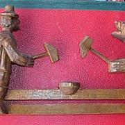 BLACK FOREST- German Carved Vintage Wooden Toy