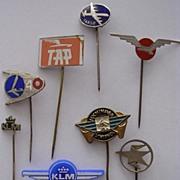 Vintage European Airlines Badge Lapel Pins