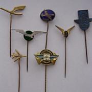 Vintage European Airlines Lapel Badges