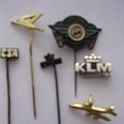 Vintage Airlines Lapel Badges