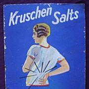 Cardboard KRUSHEN Salts Counter Advertising Sign