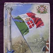 Italian FASCIST PARTY Propaganda Post Card Circa 1939
