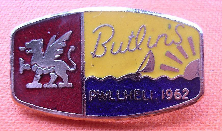 1962 Butlins PWLLHELI Camp Badge