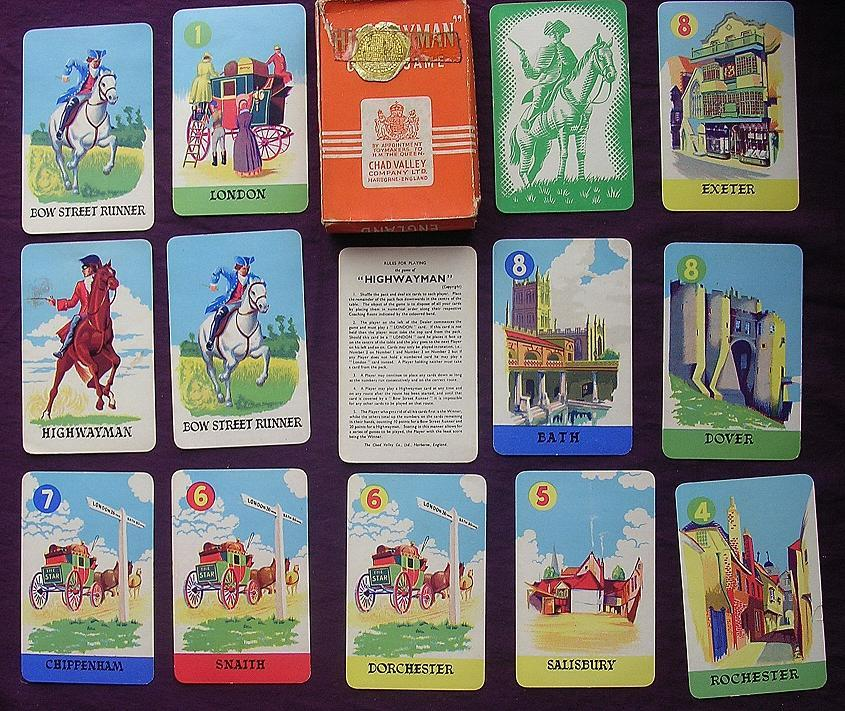 Chad Valley HIGHWAYMAN Children's Playing Cards