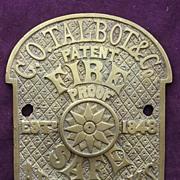 Victorian SAFE Name Plate & Key Escutcheon for G.O.Talbot & Co - Apollo Works  -   Birmingham