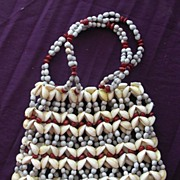 Stunning Pacific Islands Shell Purse or Handbag