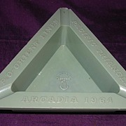 ARCADIA P & O Liner Souvenir Ashtray 'Pacific Triangle'