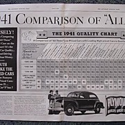 1941 PLYMOUTH Double Page Advertisement