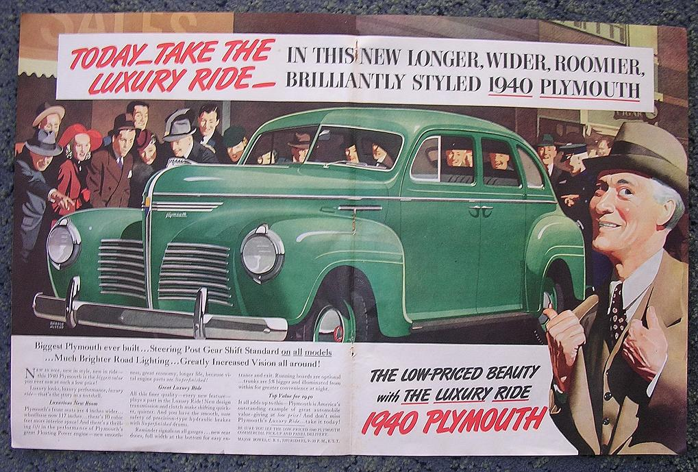 1939 PLYMOUTH Double Page Advertisement