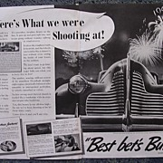 1939  BUICK Double Page Spread Advertisement
