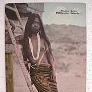 Early 1900's Philippines Postcard 'HUGAO BELLE'
