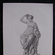 Genuine Old Victorian Engraving 'The Toilet' By W.H. MOTE