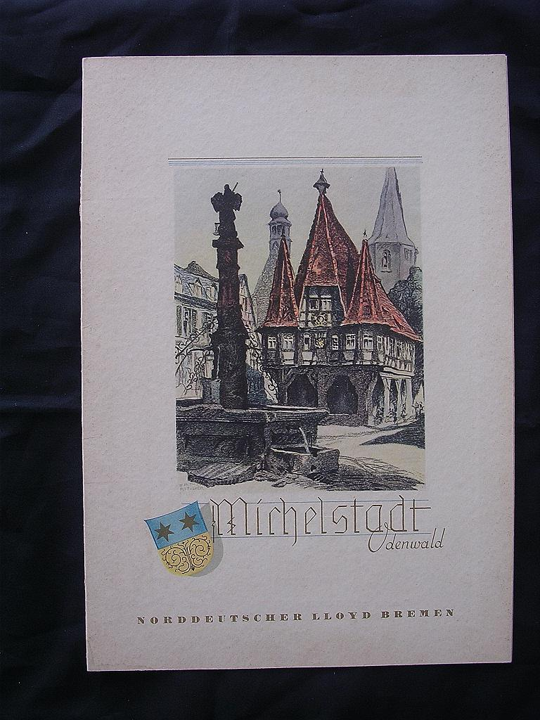 S.S. Stuttgart 1935 Menu Norddeutscher Lloyd Bremen Line