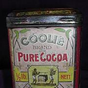 Rare COOLIE Brand Cocoa Tin