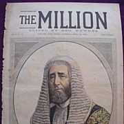 1892 Front Cover Of THE MILLION Newspaper 'The Right Hon.The Speaker Of The House Of Commons'