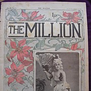 1892 Front Cover From THE MILLION Newspaper 'Miss Pyhllis Broughton'