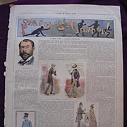 1892 Full Page From THE MILLION Newspaper 'Shadows -London'