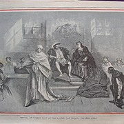 1892 Full Page From THE MILLION ' Revival Of Henry V111 At The Lyceum - The Council Chamber Sc