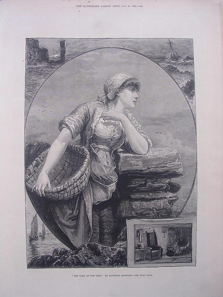 'The Turn Of The Tide' From The Illustrated London News June 1881