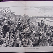 'The Oxford & Cambridge Boat-Race: People Who Always See The Race' Illustrated London News Apr