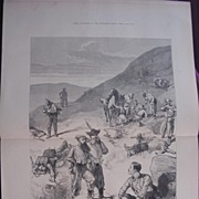 "TRANSVAAL WAR  'On The Slope Of Laing's Neck"" Evening January 28' Illustrated London News"