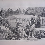 'Sketches At Scarborough' - Illustrated London News Sept. 24 1881