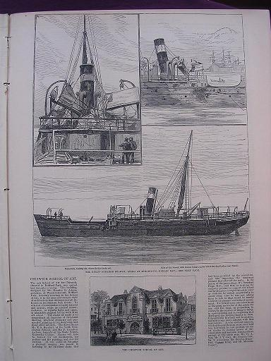 'The Steamer SOLWAY''Full Page From The London Illustrated News 1881