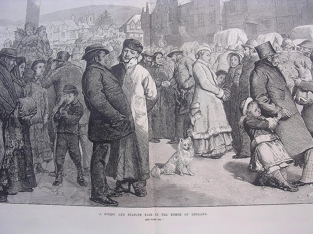 'A Hiring And Statute Fair In The North Of England' - Illustrated London News Nov. 12 1881
