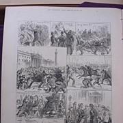The Irish Land League Agitation: Sketches In Dublin Saturday Evening, Oct.15' - Illustrated ..