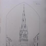 Stunning Large 1858 Lithograph of SAINT MARY MAGDALENE - NEWARK - Nottinghamshire  - Stamford - Lincolnshire