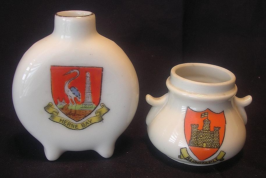 Crested Ware Miniatures - Collectors Selection Of Two Vintage Pieces