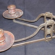 A Double Arm EDWARDIAN Brass Piano Sconce
