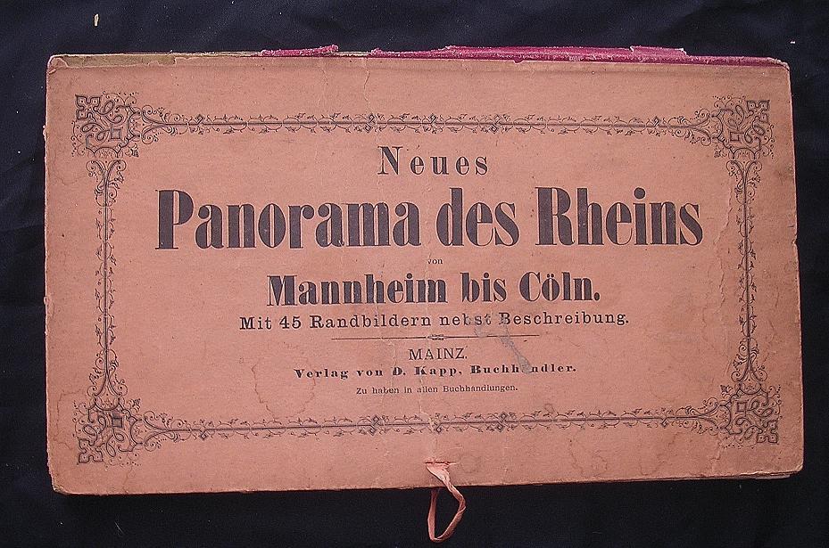 Fantastic Victorian Era 'Panorama des Rheins' Ornate Fold-out of The Rhine River