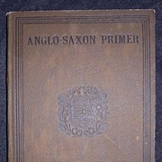 1896 Anglo-Saxon Primer By Henry Sweet