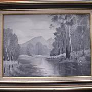 Original Acrylic on Canvas Australian Bush Scene 'WHITE SOLITUDE'