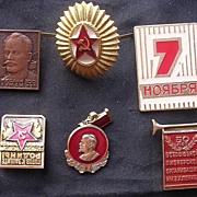 Vintage Russian SOVIET Badges Lot of Six