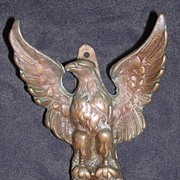Impressive Old English Brass EAGLE Door Knocker