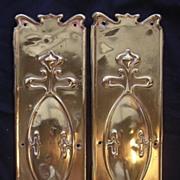 SOLD A Pair of Victorian Art Nouveau  Door Brass Finger Plates