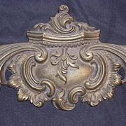 Beautiful 1862 Brass Escutcheon