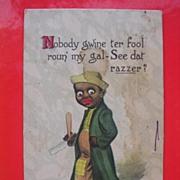 1914 Black Americana Card 'Nobody Gwine Ter Fool Roun' My Gal'