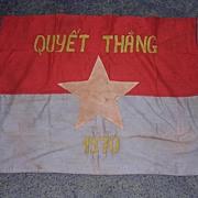 Vietnam War - Rare VIET CONG Flag 'Quyet Thang' 1970