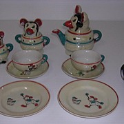 Exceedingly Rare Borgfeldt MICKEY MOUSE 1930's Tea Set
