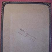 French Bronze Photo Frame Circa 1910-1920