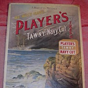 """PLAYERS """"Tawny"""" Navy Cut Tobacco Mounted Display Poster"""