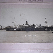 S.S. ROTORUA Framed Photograph Signed By Officers