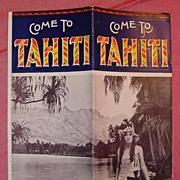 UNION Steamship Co Booklet on Tahiti 1928